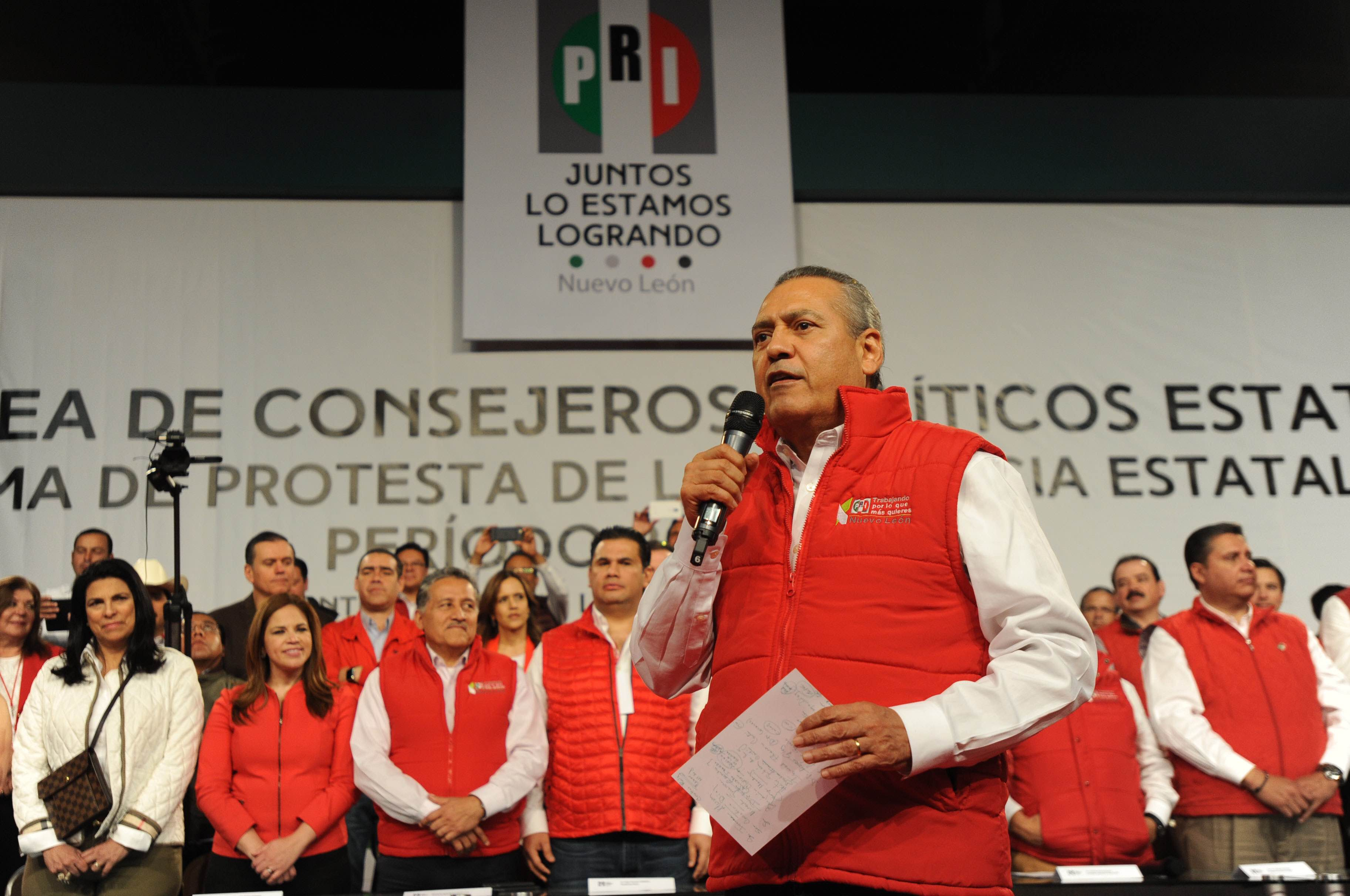 PALABRAS DE MANLIO FABIO BELTRONES, EN LA TOMA DE  PROTESTA DEL PRESIDENTE Y LA SECRETARIA GENERAL DEL CDE DEL PRI - NUEVO LEÓN,  CÉSAR CAVAZOS CABALLERO Y MARÍA DE JESÚS AGUIRRE MALDONADO, RESPECTIVAMENTE, REALIZADA EN EL CENTRO INTERNACIONAL DE NEGOCIOS, EN MONTERREY, NL