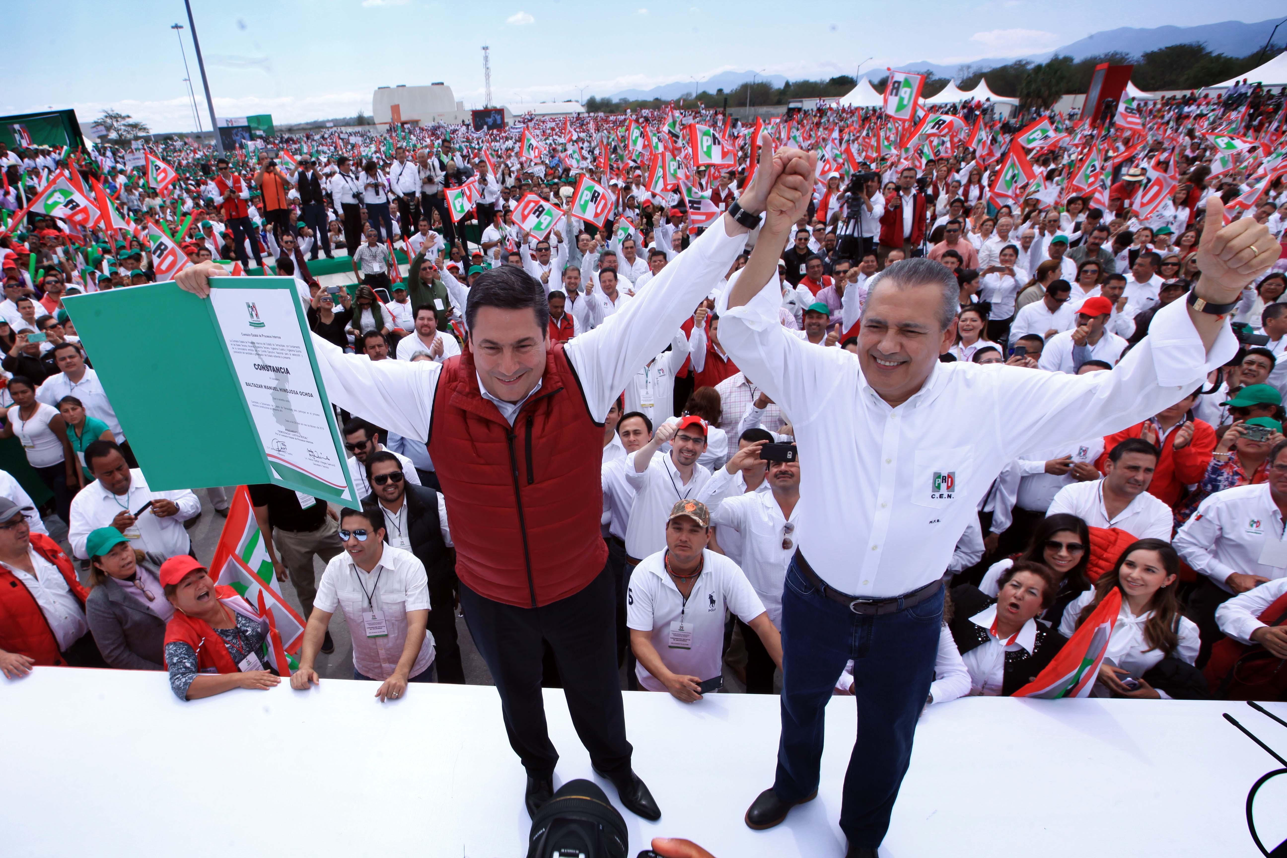 PALABRAS DE MANLIO FABIO BELTRONES, EN LA TOMA DE PROTESTA DE BALTAZAR HINOJOSA OCHOA COMO CANDIDATO DEL PRI A GOBERNADOR DE TAMAULIPAS