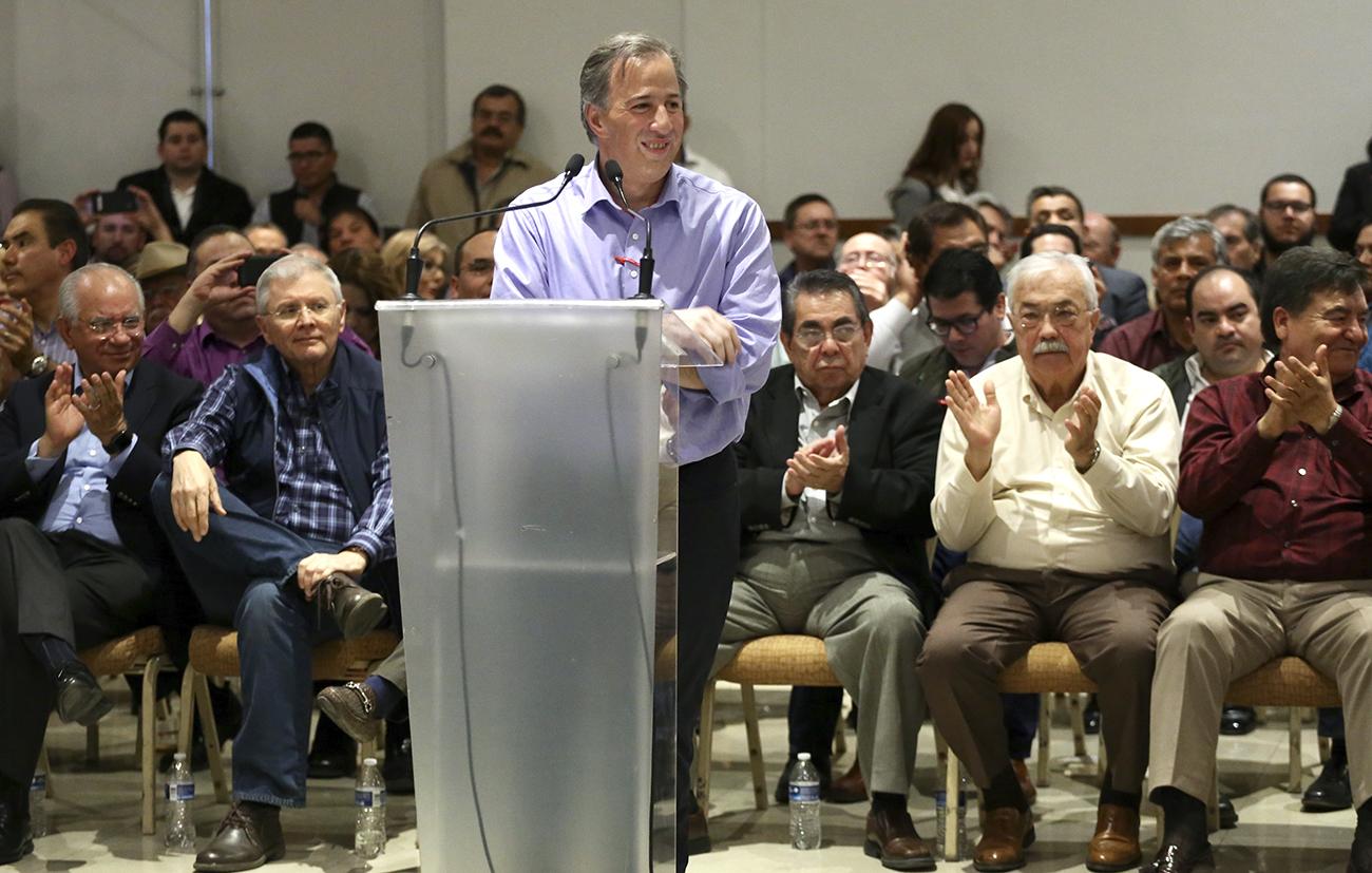 Entrevista al precandidato del PRI a la Presidencia de la República, José Antonio Meade Kuribreña, al término del Quinto Foro Puntos de Encuentro: México Potencia Sustentable