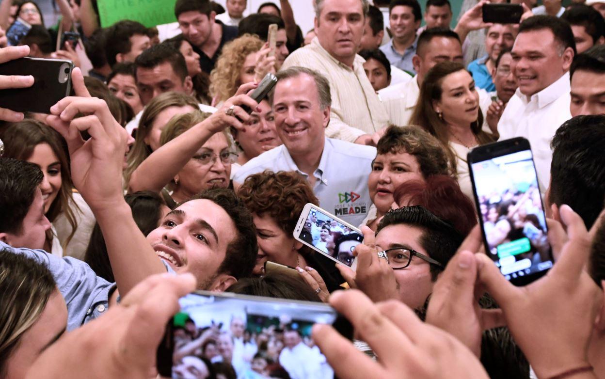 José Antonio Meade recibe calurosa bienvenida en Mérida, Yucatán