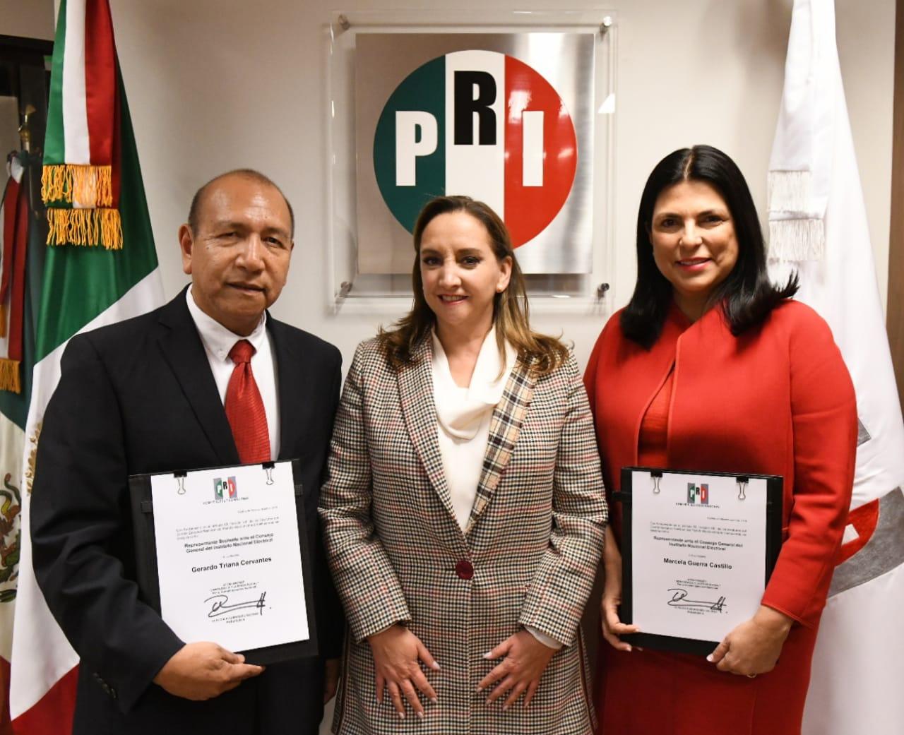 Nombra Ruiz Massieu a Marcela Guerra nueva representante del PRI ante el INE