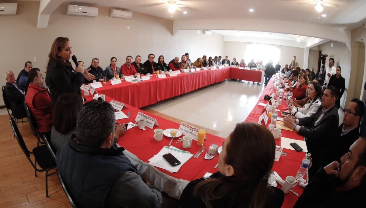 CONFERENCIA DE PRENSA CLAUDIA RUIZ MASSIEU EN TIJUANA, BAJA CALIFORNIA.