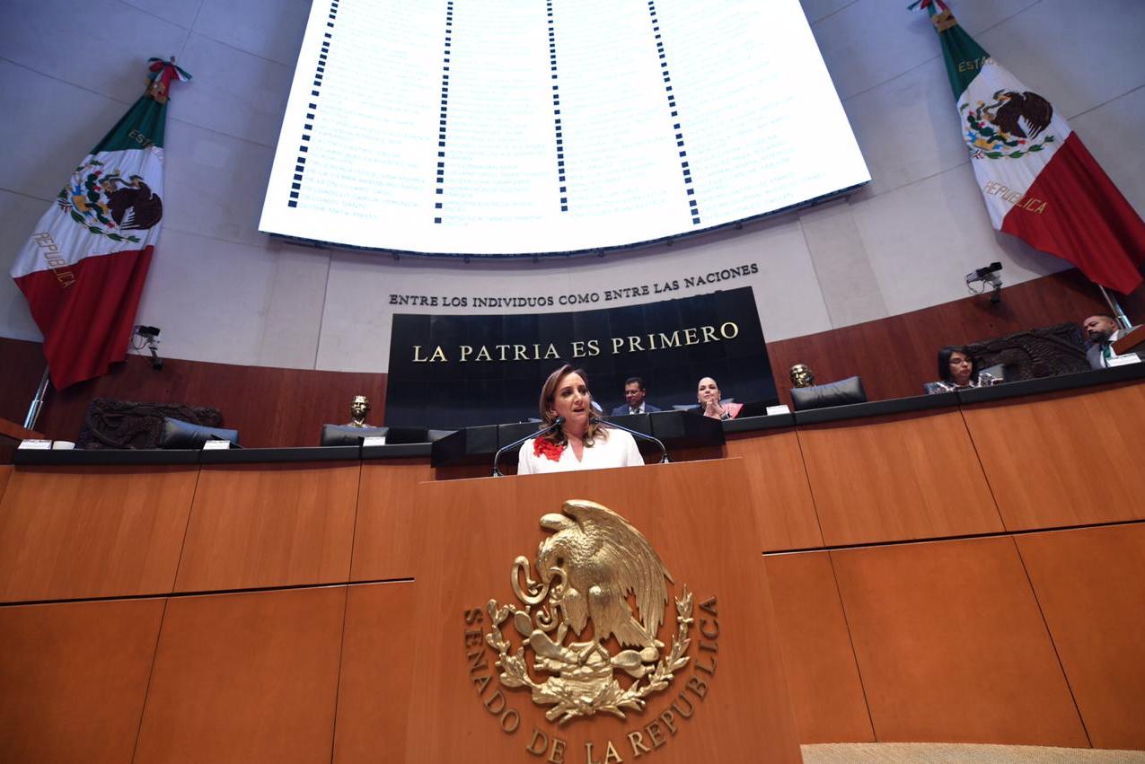Intervención de Claudia Ruiz Massieu en el Senado de la República.