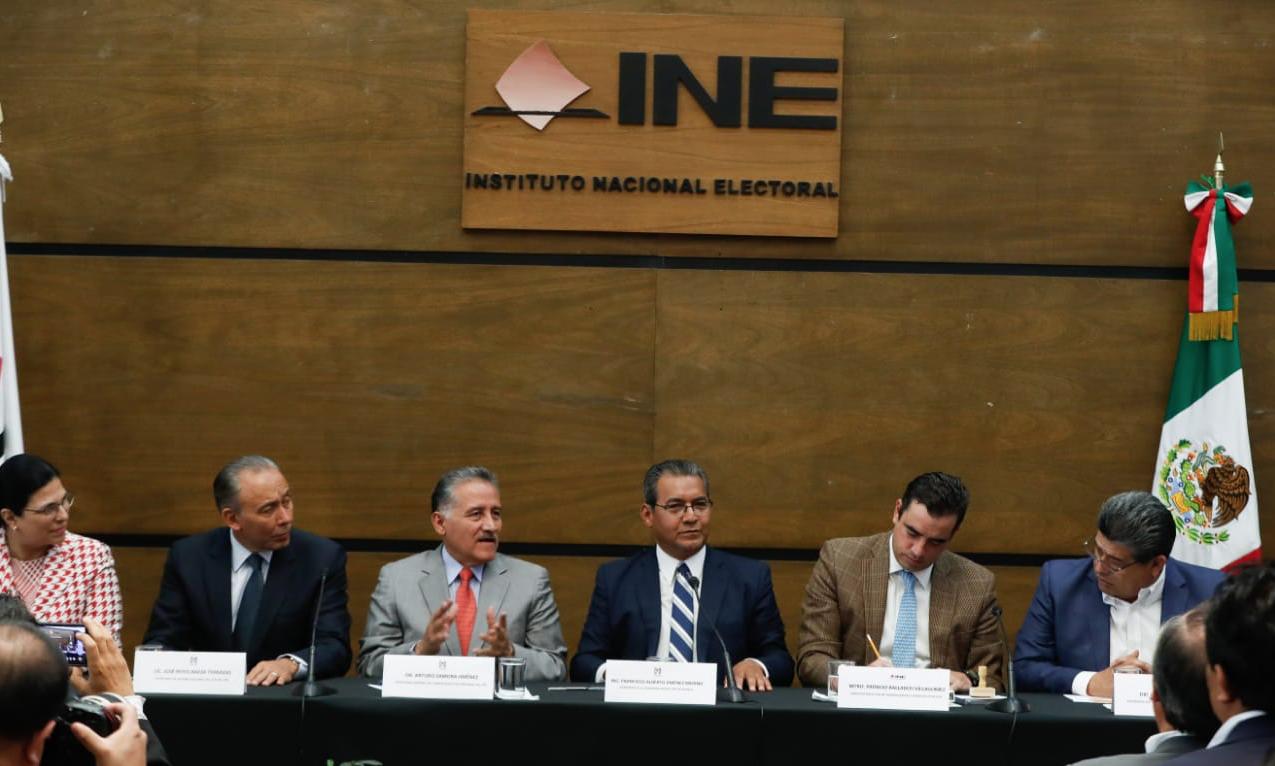 CONFERENCIA DE PRENSA, REGISTRO DE JIMÉNEZ MERINO COMO CANDIDATO DEL PRI A LA GUBERNATURA DE PUEBLA.
