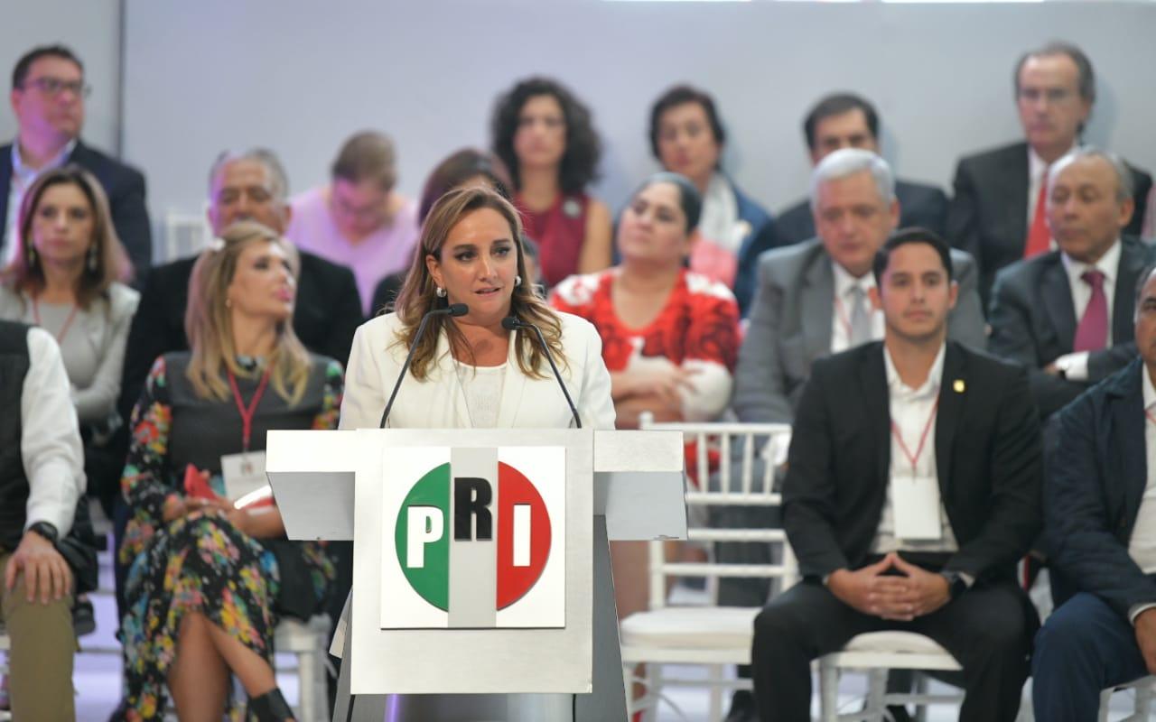 Mensaje de la Presidenta del CEN del PRI, Claudia Ruiz Massieu, al inicio de la XLV Sesión Extraordinaria del CPN.