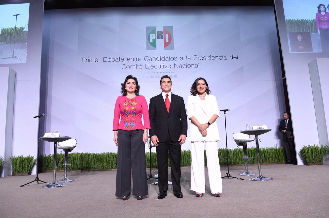 INICIA EL PRIMER DEBATE DE CANDIDATOS A LA DIRIGENCIA NACIONAL DEL PRI.