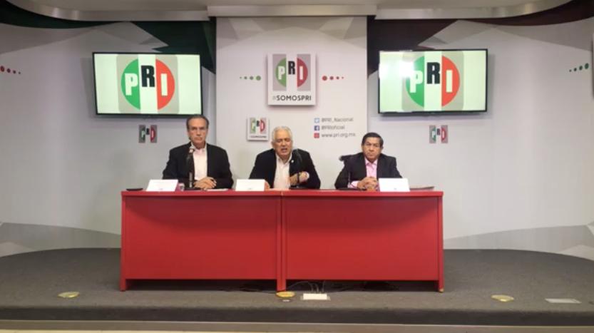 CONFERENCIA DE PRENSA DEL PRESIDENTE DE LA COMISIÓN NACIONAL DE PROCESOS INTERNOS DEL CEN DEL PRI, JOSÉ RUBÉN ESCAJEDA JIMÉNEZ, EN EL MARCO DEL DESARROLLO DE LA JORNADA ELECTORAL PARA RENOVAR LA DIRIGENCIA DE ESTE INSTITUTO POLÍTICO