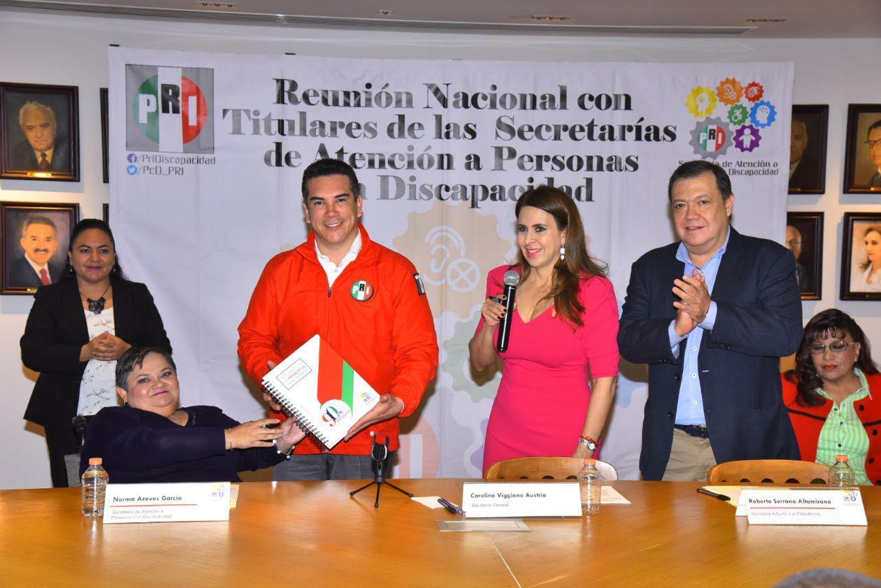DIRIGENCIA NACIONAL DEL PRI SUSCRIBE DECÁLOGO INCLUYENTE EN FAVOR DE LAS PERSONAS CON DISCAPACIDAD.