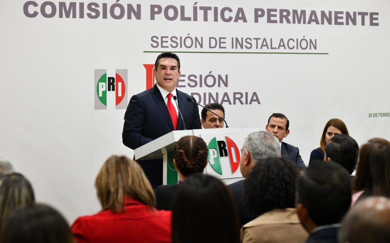 MENSAJE DEL LIC. ALEJANDRO MORENO, PRESIDENTE DEL CEN DEL PRI, EN LA INSTALACIÓN DE LA COMISIÓN POLÍTICA PERMANENTE.