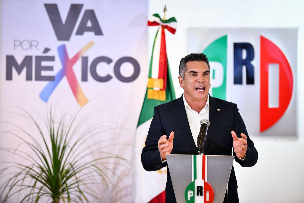 """Versión estenográfica del mensaje del Lic. Alejandro Moreno, Presidente del CEN del PRI, en la firma del convenio de coalición """"Va Por México"""", realizada  en la Ciudad de México, el martes 22 de diciembre de 2020."""
