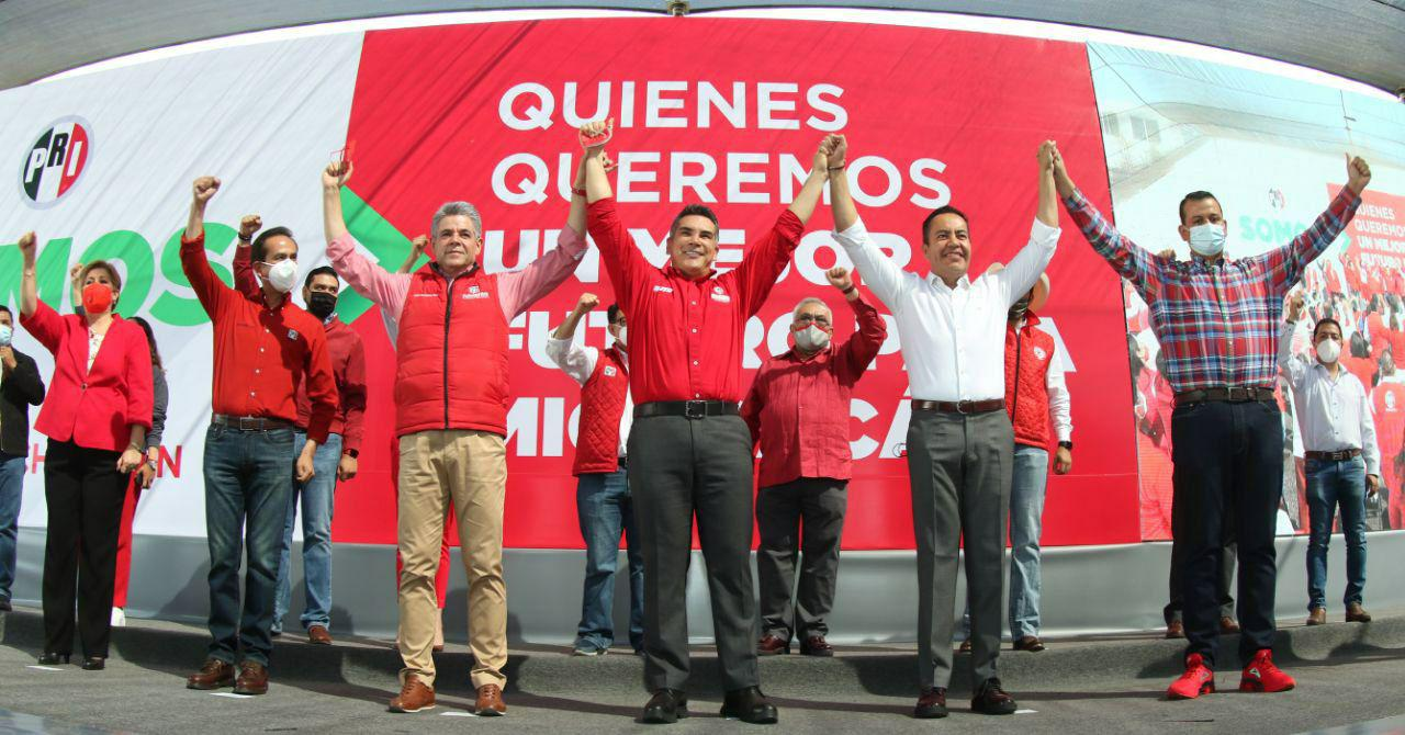 CARLOS HERRERA TELLO RINDIÓ PROTESTA COMO CANDIDATO DEL PRI AL GOBIERNO DE MICHOACÁN