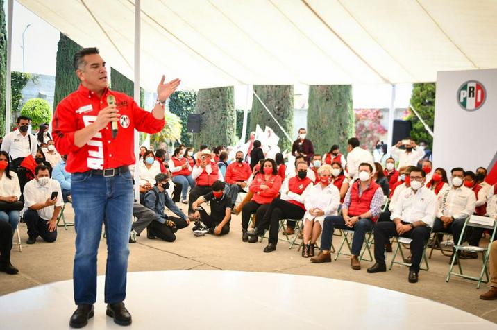 """Versión estenográfica del mensaje del Lic. Alejandro Moreno, Presidente del CEN del PRI, en el encuentro con las militancias de la coalición """"Va por México"""", realizada en Quecholac, Puebla, el 4 de mayo de 2021."""