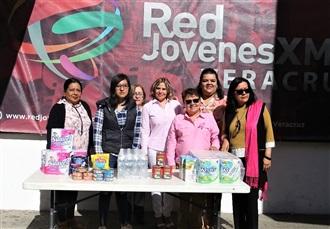 Red de Jóvenes por México en Veracruz colecta víveres en apoyo a personas afectadas por lluvias