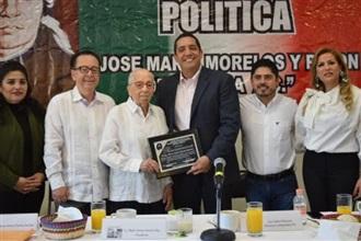 Reconoce el CDE del PRI al mazatleco Marco Arturo Huerta Sánchez.