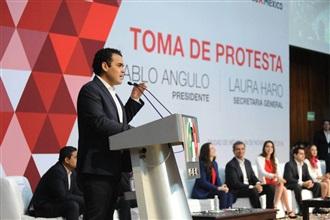 Toma de protesta del Presidente y Secretaria general de la Red Jóvenes X México