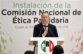José Antonio Meade en la instalación de la Comisión Nacional de Ética Partidaria