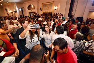Claudia Ruiz Massieu, en la ceremonia de toma de protesta a la dirigencia del PRI Coahuila