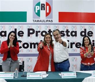 Claudia Ruiz Massieu en la toma de protesta de la nueva dirigencia del PRI Tamaulipas