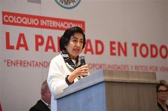 """MENSAJE DE GUADALUPE GÓMEZ MAGANDA AL INAUGURAR EL COLOQUIO INTERNACIONAL """"PARIDAD EN TODO"""""""