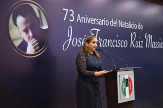 CEREMONIA CON MOTIVO DEL 73 ANIVERSARIO DEL NATALICIO DE JOSÉ FRANCISCO RUIZ MASSIEU.