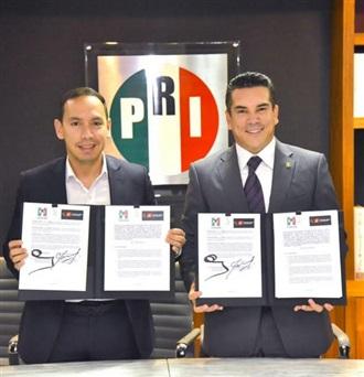 FIRMA EL PARTIDO REVOLUCIONARIO INSTITUCIONAL UN CONVENIO DE COLABORACIÓN CON EL PARTIDO LIBERAL COLOMBIANO.