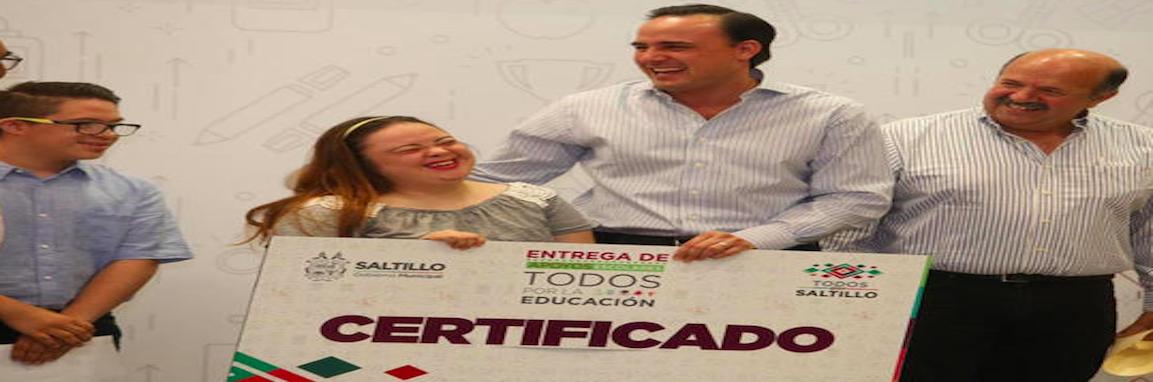 Entrega Saltillo apoyos escolares a jóvenes con discapacidad y a estancias