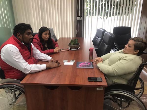 Reunión de la Secretaria Norma Aceves con el Secretario Moisés Pelcastre del CDE Hidalgo