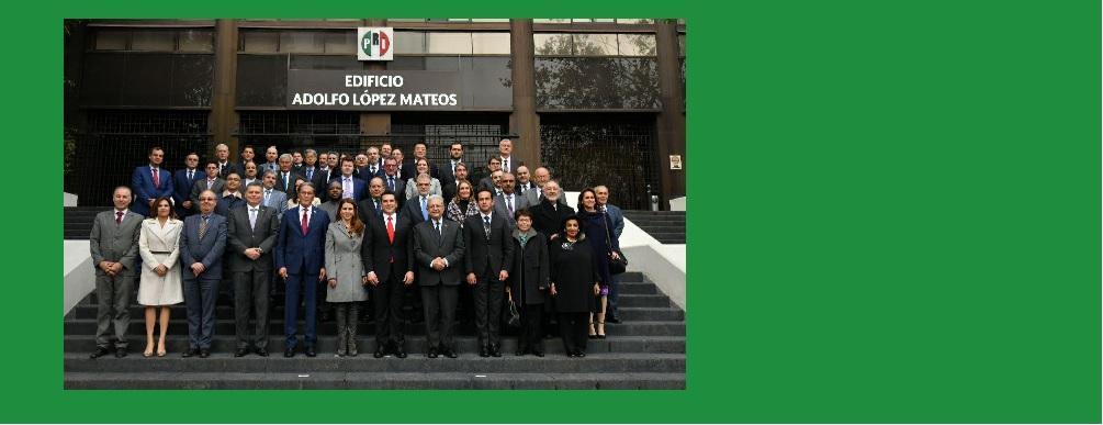 Reunión con representantes de más de 50 Embajadas Acreditadas en México,