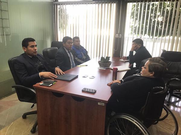 Reunión de la Secretaria Norma Aceves con el Titular de Protección Civil del CEN del PRI