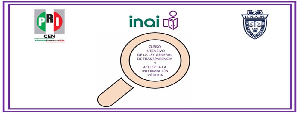 """""""Curso intensivo de la Ley General de Transparencia y Acceso a la Información Pública"""""""