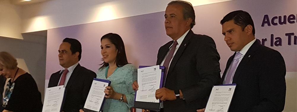 El PRI suscribe Acuerdo Nacional por la Transparencia