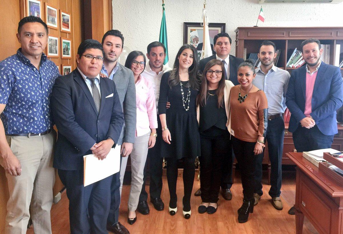 Reunión de la Secretaria de Asuntos Internacionales, Lila Abed, con la delegación juvenil del PRI que viajará a China