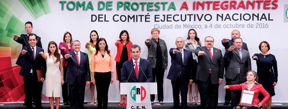 PRESIDENTE ENRIQUE OCHOA TOMA  PROTESTA A LA NUEVA DIRIGENCIA DEL CEN DEL PRI
