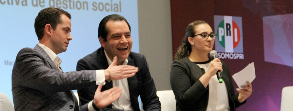 El Sen. Roberto Albores Gleason, Secretario de Gestión Social del CEN del PRI, expone la estrategia pro ac...