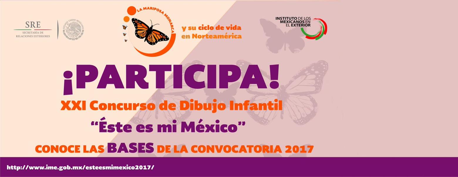 """CONVOCATORIA DEL XXI CONCURSO DE DIBUJO INFANTIL """"ÉSTE ES MI MÉXICO"""""""