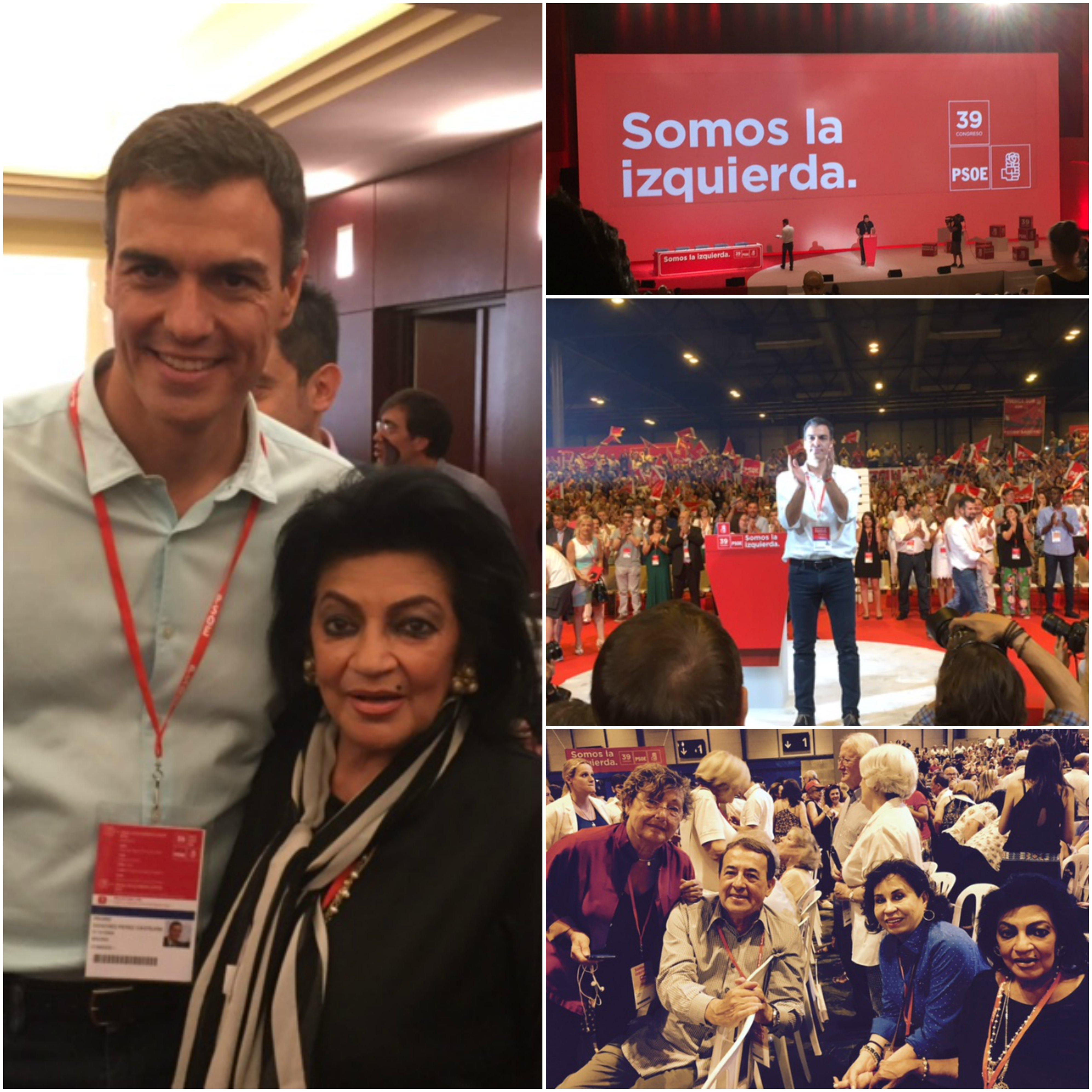 LA SECRETARÍA DE ASUNTOS INTERNACIONALES DEL CEN DEL PRI FUE INVITADA AL 39° CONGRESO FEDERAL DEL PARTIDO SOCIALISTA OBRERO ESPAÑOL PSOE