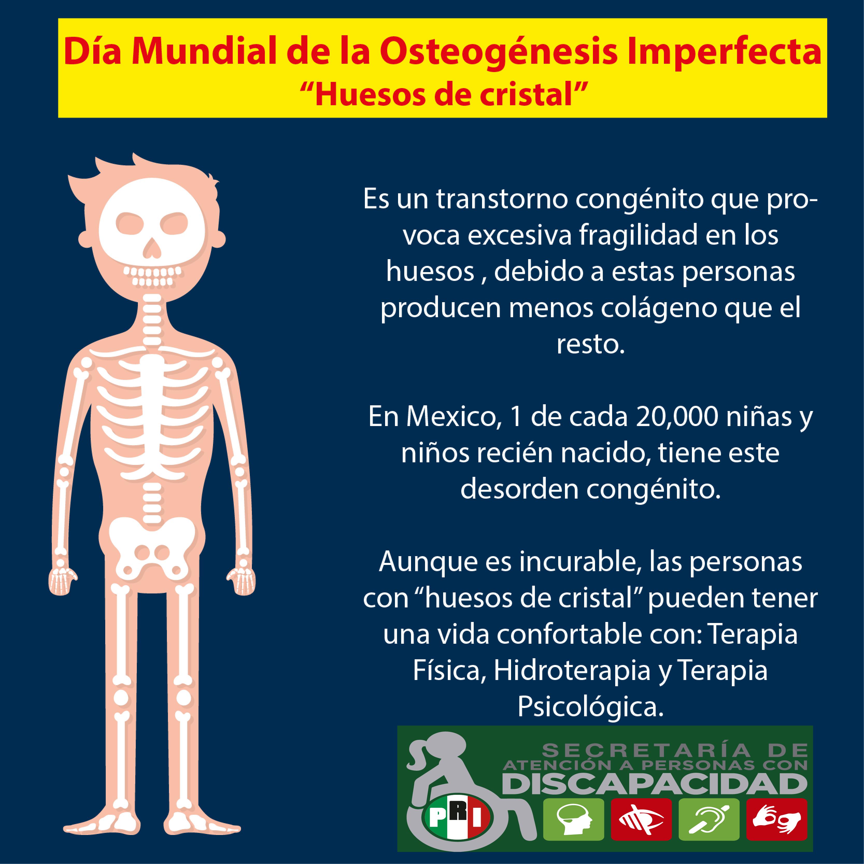 "Día Internacional de los ""Huesos de Cristal"" u ""Osteogénesis Imperfecta"""