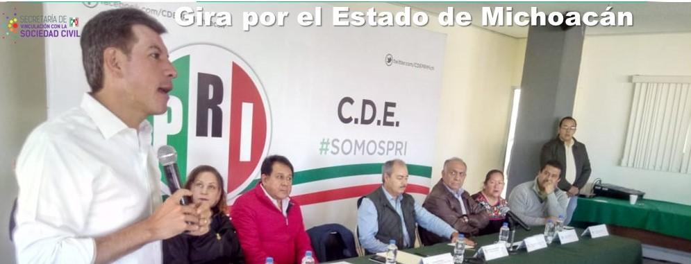 Gira de trabajo por el Estado de Michoacán