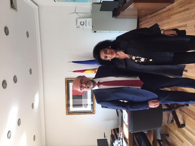 Visita al Embajador de España en México.