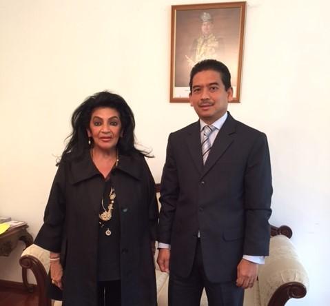 Visita al Embajador de Malasia en México.