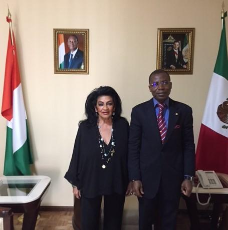 Visita al Embajador de Costa de Marfil en México.