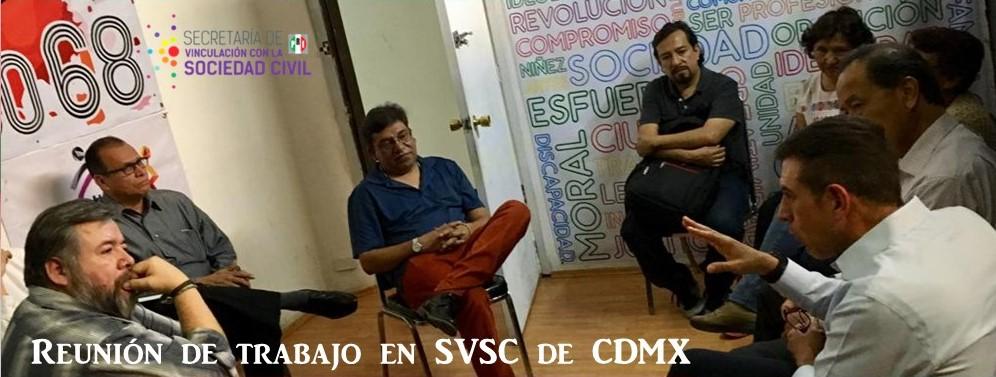 Reunión de trabajo con CDE de VSC de la CDMX