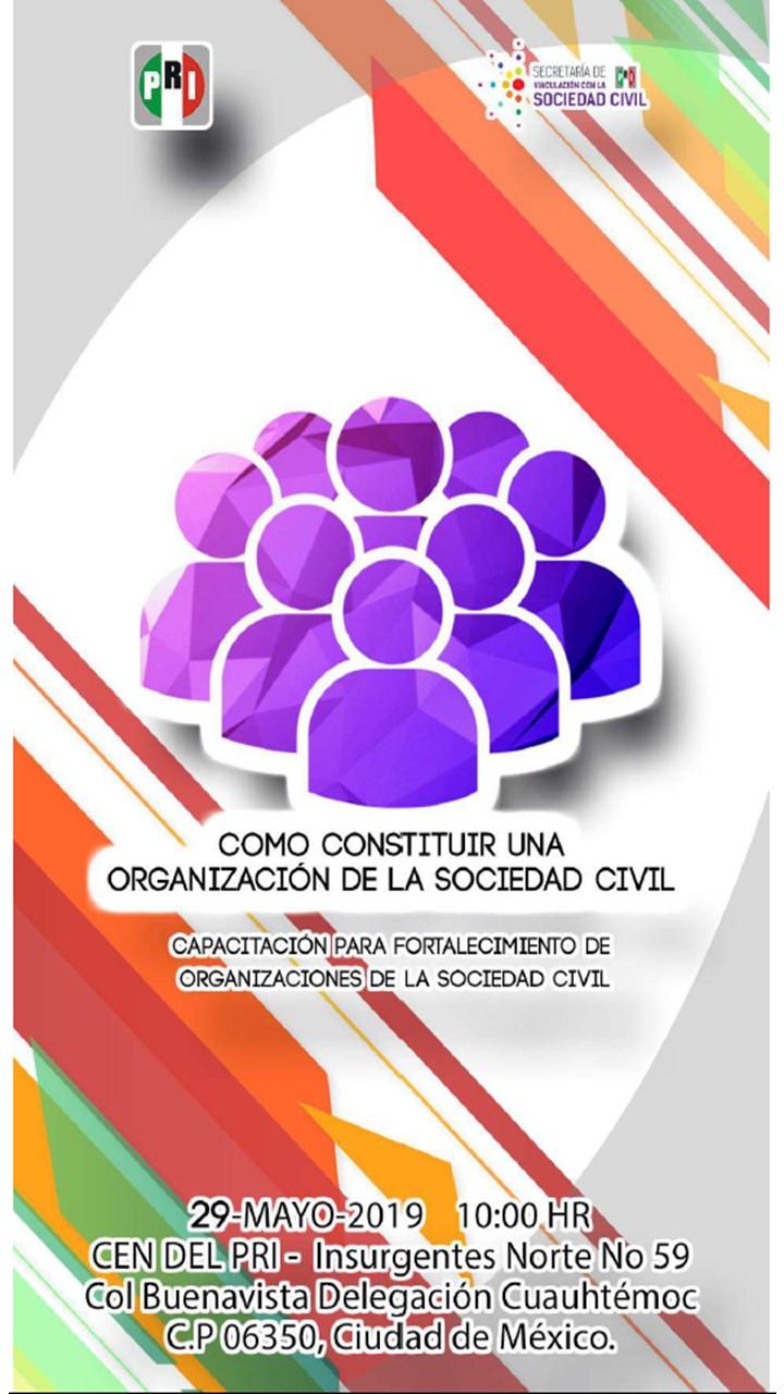 """TALLER: """"COMO CREAR UNA ORGANIZACIÓN DE LA SOCIEDAD CIVIL"""""""
