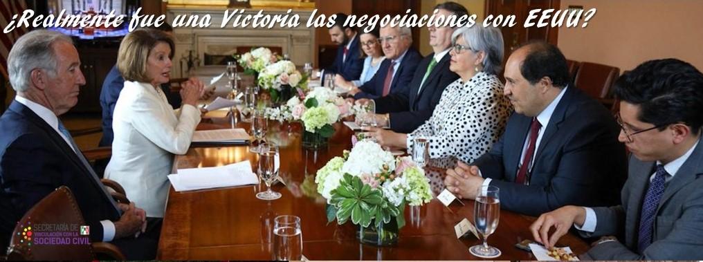 ¿Realmente fue una Victoria las negociaciones con EEUU?