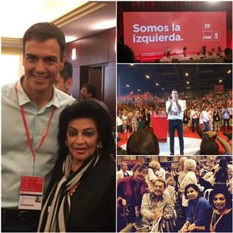 LA SECRETARÍA DE ASUNTOS INTERNACIONALES DEL CEN DEL PRI FUE INVITADA AL 39° CONGRESO FEDERAL DEL PSOE