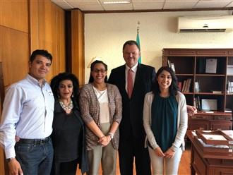 REUNIÓN CON LA DIRECTORA DE LA OFICINA DEL INSTITUTO NACIONAL DEMÓCRATA EN MÉXICO