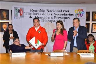 DIRIGENCIA NACIONAL DEL PRI SUSCRIBE DECÁLOGO INCLUYENTE EN FAVOR DE LAS PERSONAS CON DISCAPACIDAD width=