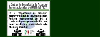 Conoce qué es y qué hace la Secretaría de Asuntos Internacionales del CEN del PRI width=