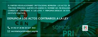 DENUNCIA LOS ACTOS CONTRARIOS A LA LEY width=