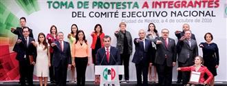 PRESIDENTE ENRIQUE OCHOA TOMA  PROTESTA A LA NUEVA DIRIGENCIA DEL CEN DEL PRI width=